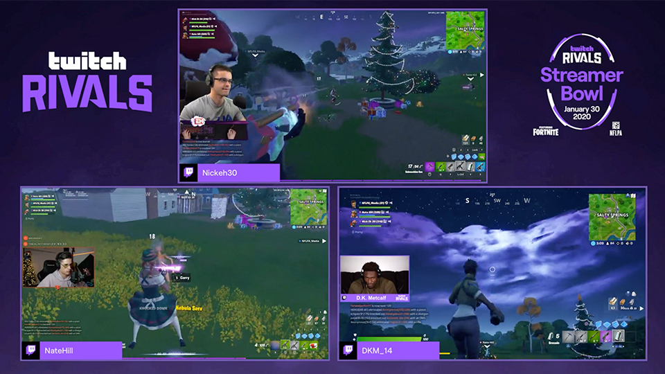 Streamer Bowl 2020 Featuring Fortnite
